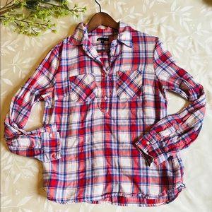 Gap Plaid Popover Shirt